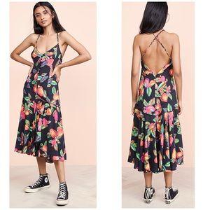 Farm Rio Cashew Midi Dress Size XS